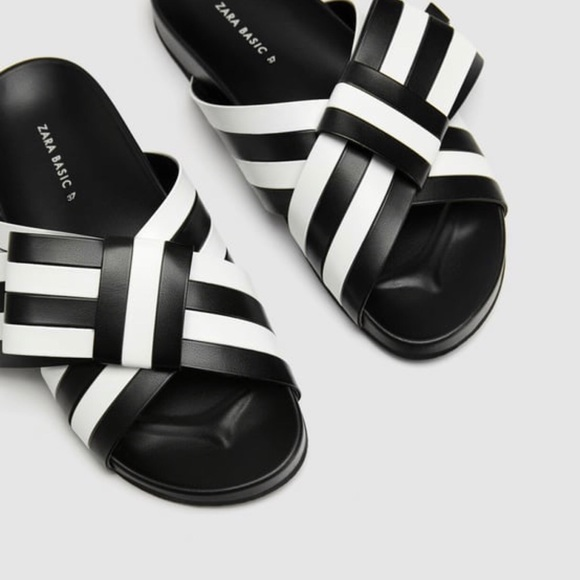 8e35836f1 Zara Striped Bow Slides. M_5b4151e56a0bb7484f01d17b